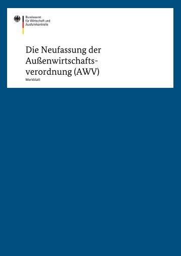 AWV - Ausfuhrkontrolle