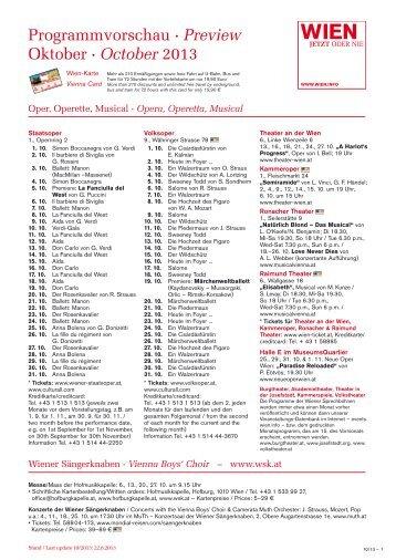 Programmvorschau · Preview Oktober · October 2013