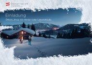 Einladung - Österreich Werbung