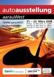 Programmheft Auto Ausstellung aarauWest 2014 - Auto Aargau