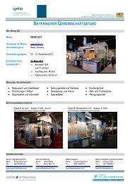 Informationsblatt zur IGEHO - Bayern Handwerk International GmbH