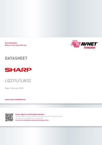 DAtAshEEt LQ231U1LW32 - Avnet Embedded