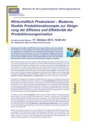 Wirtschaftlich Produzieren - Moderne, flexible Produktionskonzepte ...