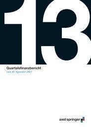 September 2013 - Axel Springer