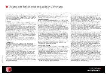 AGB Zeitungen 2013 - Axel Springer MediaPilot