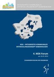 4. IKEK-Forum 16.01.2014 - Zusammenfassung der Ergebnisse ...
