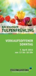 Tulpenfrühling 2013_neu_mk16.indd - Stadtmarketing Backnang