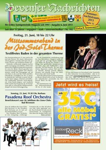 Juni 2013 - Bevenser Nachrichten