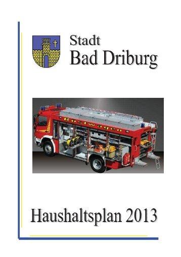 Allgemeine Erläuterungen zum Haushaltsplan - Bad Driburg