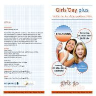 Programm zum Girls' Day plus - Bad Homburg