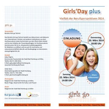 Programm zum Girls' Day plus - Bad Homburg