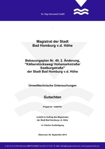 Gutachten Boden - Bad Homburg