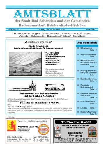 Ausgabe 42. KW 2013 - Bad Schandau