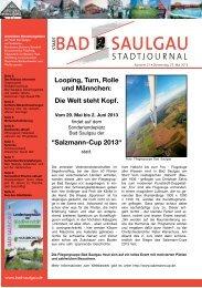 Stadtjournal Ausgabe 21/2013 - Stadt Bad Saulgau