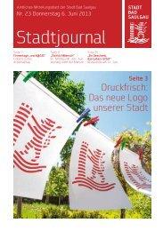 Stadtjournal Ausgabe 23/2013 - Stadt Bad Saulgau