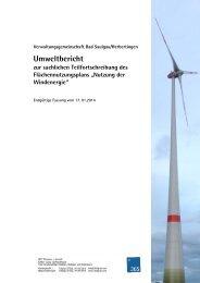 Umweltbericht - Stadt Bad Saulgau