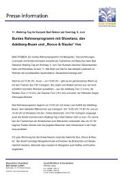 Pressemitteilung 10/2013 - Walking-Tag - Bad Steben