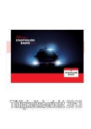 Jahresbericht 2013 - Baden