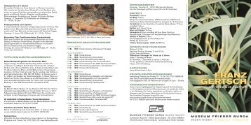 Flyer zur Ausstellung - Baden-Baden