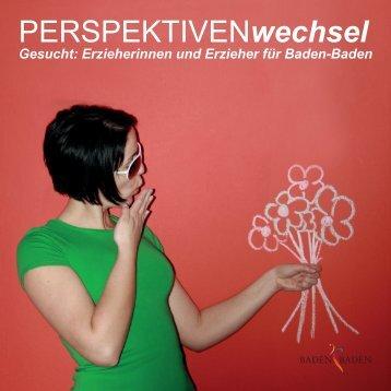 Fachkräfte gesucht: Perspektivenwechsel Broschuere - Baden-Baden