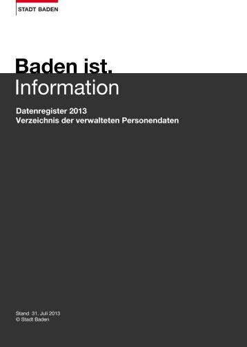 Datenregister 2013 [PDF, 590 KB] - Stadt Baden
