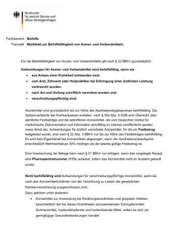Arznei- und Verbandmittel - BADV