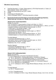 Öffentliche Ausschreibung Bayer. Staatsanzeiger, Gew. 07.01, 09.01 ...