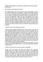Die Predigt von Bischofsvikar Karlheinz Knebel zum ...
