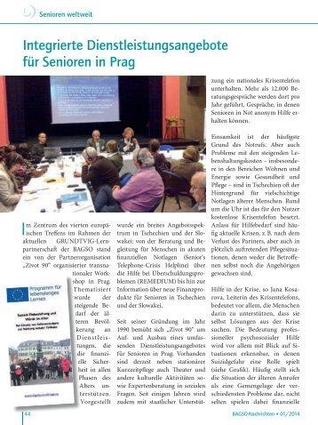 Integrierte Dienstleistungsangebote für Senioren in Prag - Bagso