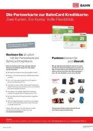 Die Partnerkarte zur BahnCard Kreditkarte: Zwei Karten. Ein Konto ...