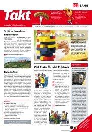 Takt - die Kundenzeitung von DB Regio Südost (PDF, 2.15MB) - Bahn
