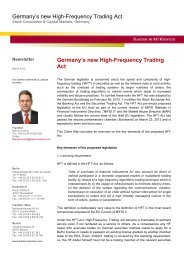 Germany's new High-Frequency Trading Act - Baker & McKenzie
