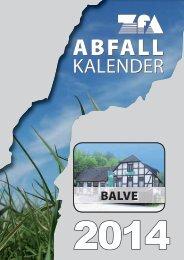 Abfallkalender 2014 - Balve