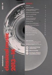 season brochure pdf - Barbican