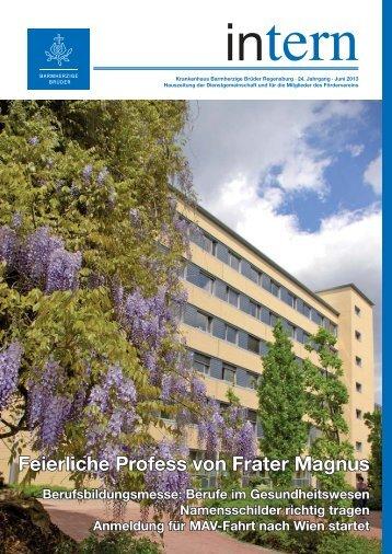 Juni 2013 - Krankenhaus Barmherzige Brüder Regensburg