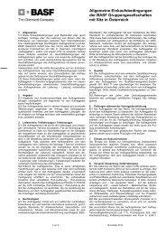 Allgemeine Einkaufsbedingungen der BASF ... - BASF.com