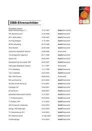 DBB-Ehrenschilder - Deutscher Basketball Bund › Deutscher ...