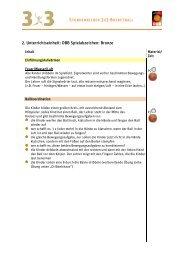 2. Unterrichtseinheit: DBB Spielabzeichen: Bronze - Deutscher ...