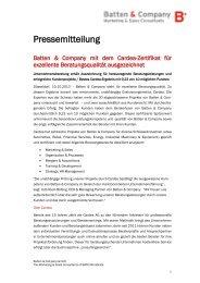 Pressemitteilung - Batten & Company