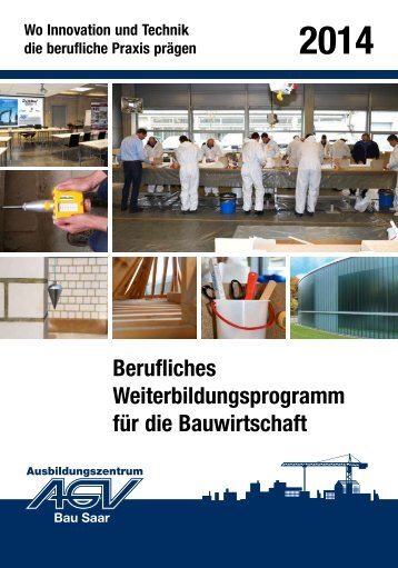Seminarbroschüre AGV Bau Saar 2013/2014
