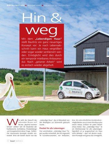 """Mit dem """"Lebendigen Haus"""" stellt Baufritz ein ganz neuartiges ..."""