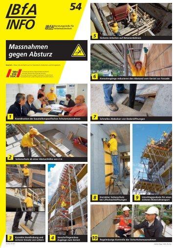 Massnahmen gegen Absturz - Schweizerischer Baumeisterverband