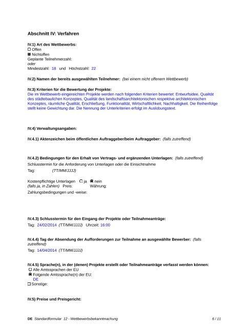 Wettbewerbsbekanntmachung - Deutsche Schule Bilbao ... - BauNetz