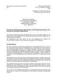 Einwand der EU-Kommission gegen Bremer ...