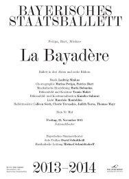 Besetzungszettel als PDF-Download - Bayerische Staatsoper