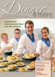 Internationales Menü zum 150. Jubiläum - Bayer Gastronomie GmbH