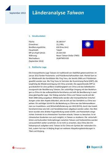 Länderanalyse Taiwan - Bayerische Landesbank