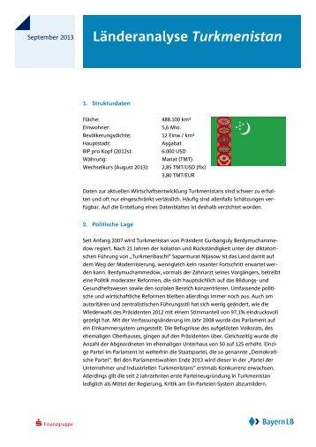 Länderanalyse Turkmenistan - Bayerische Landesbank