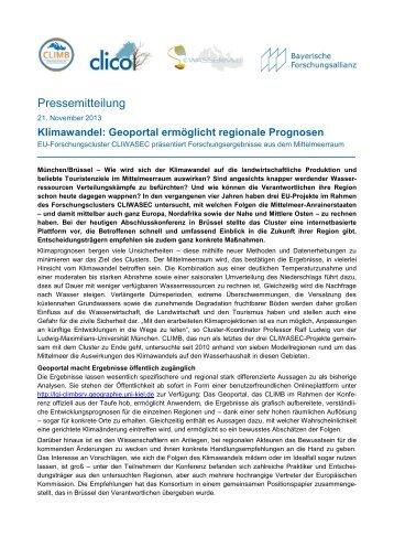 Pressemitteilung - Bayerische Forschungsallianz