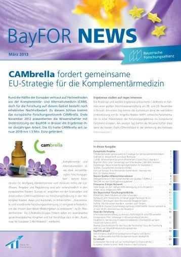 BayFOR News März 2013 - Bayerische Forschungsallianz